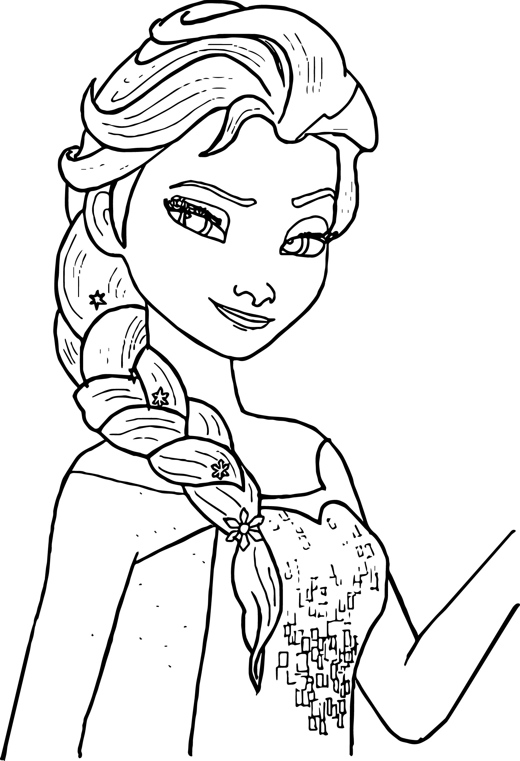 Coloring Pages For Kids Printable : Free printable elsa coloring pages for kids best