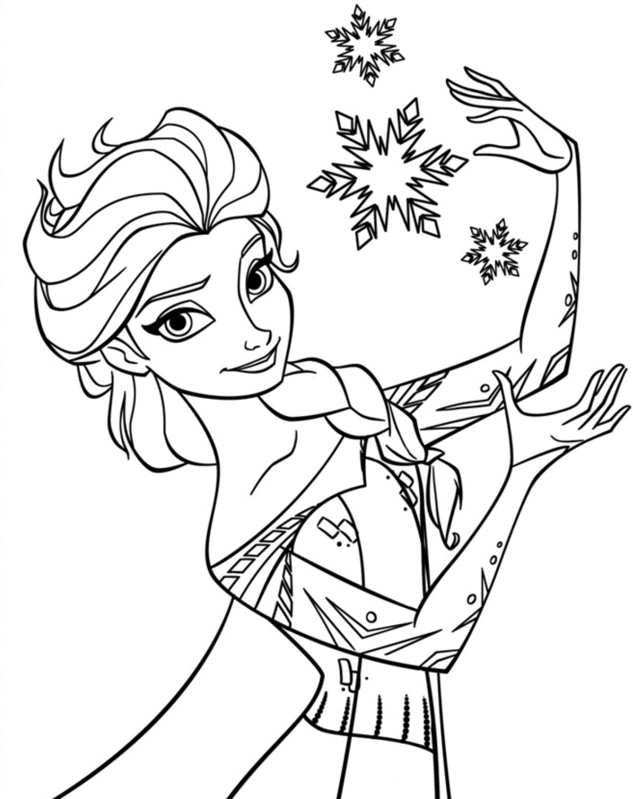 Free printable elsa coloring pages for kids best for Best coloring pages for kids