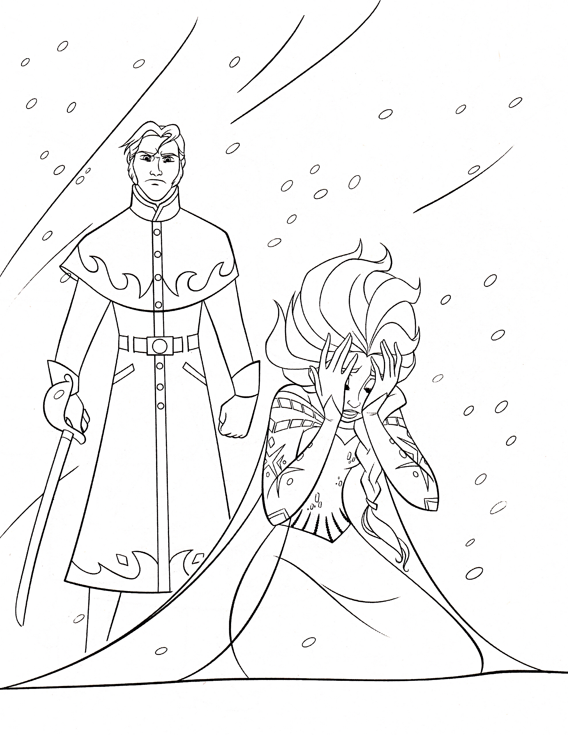 Disney Frozen Coloring Pages Hans : Free printable elsa coloring pages for kids best