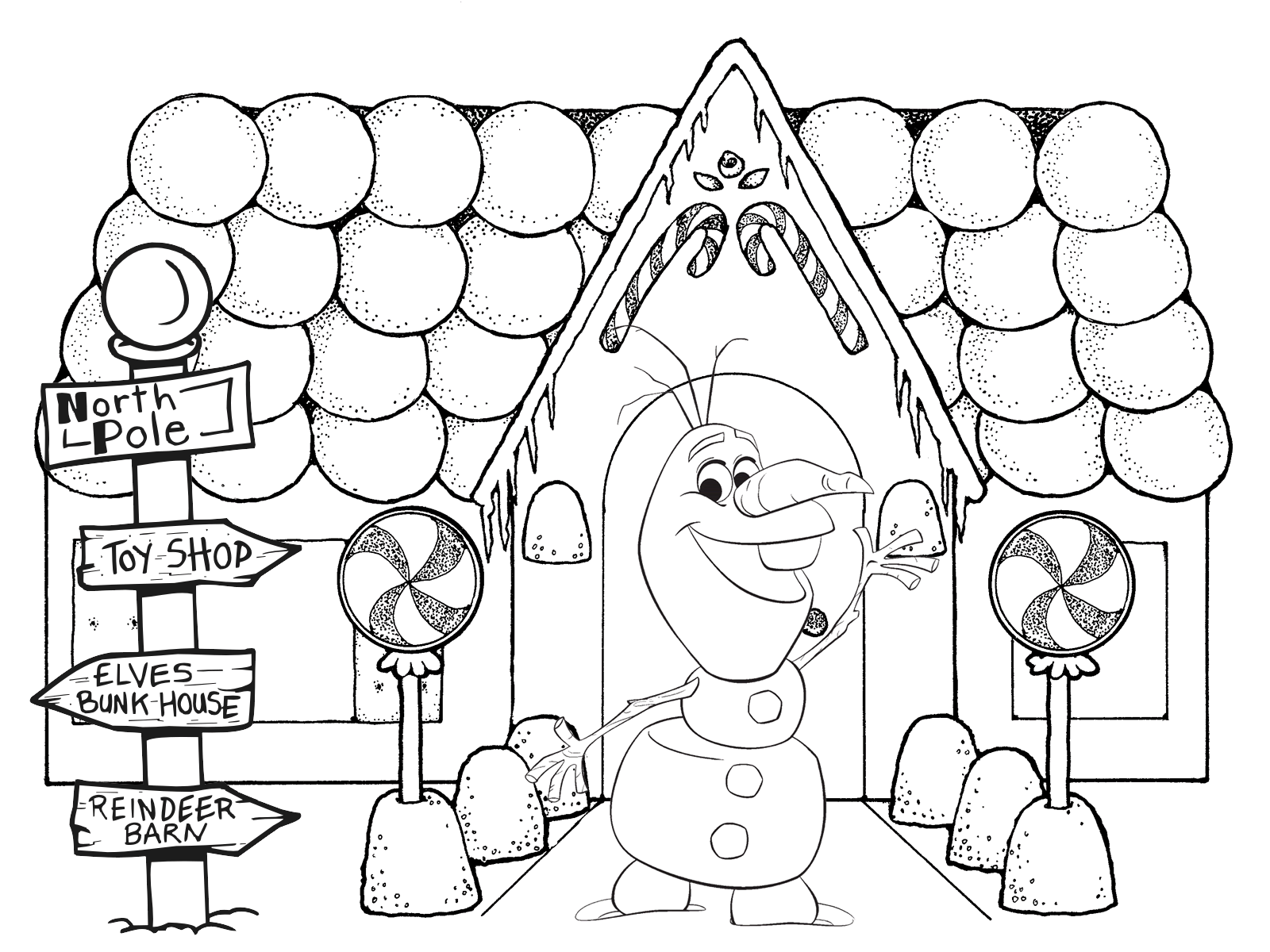 frozen christmas pictures to colour for free - Holiday Pictures To Colour