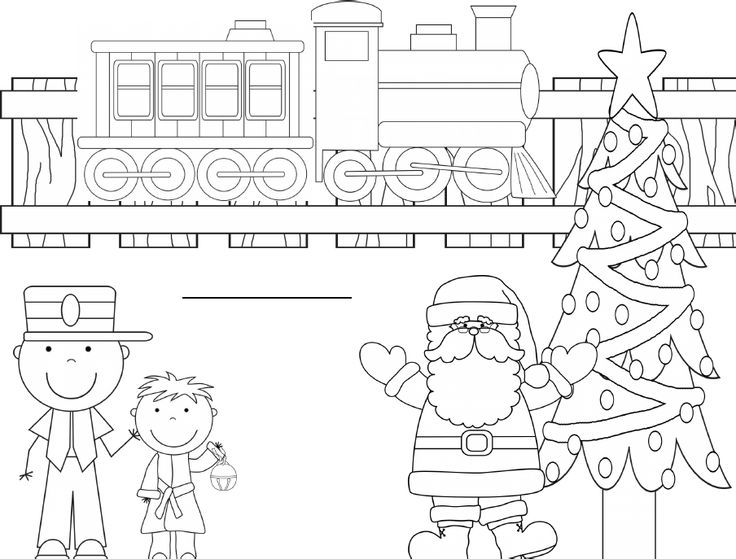 free polar express coloring pages - Polar Express Train Coloring Page