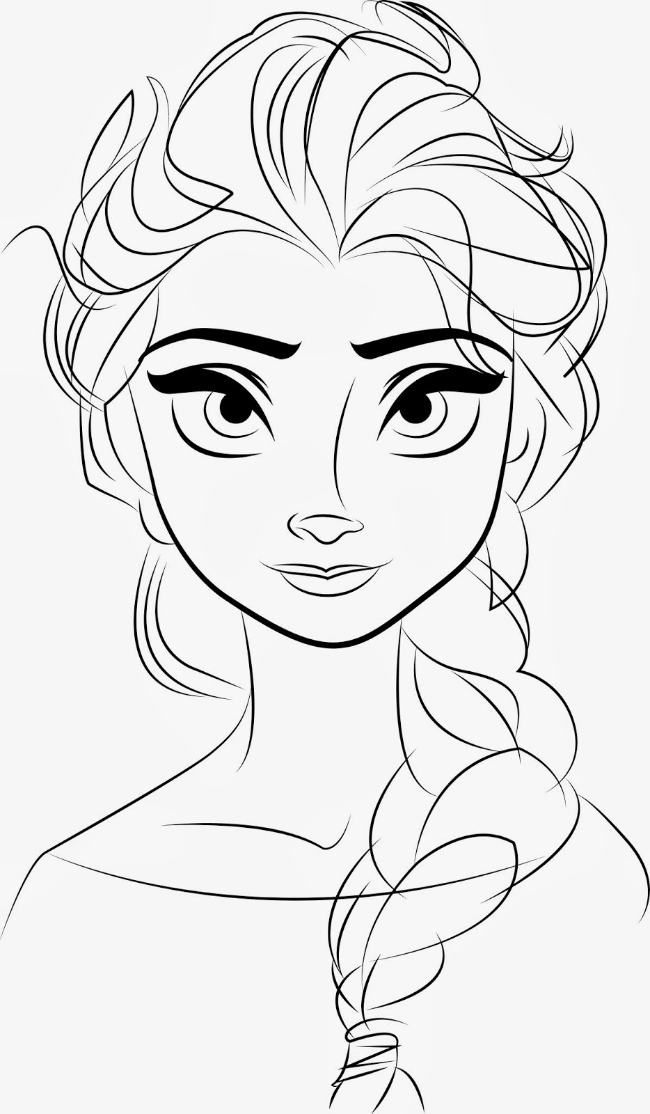 Free printable elsa coloring pages for kids best for Awesome face drawing