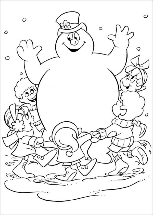 the snowman coloring pages - photo#17