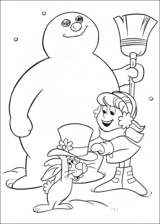 Frosty the Snowman coloring page images
