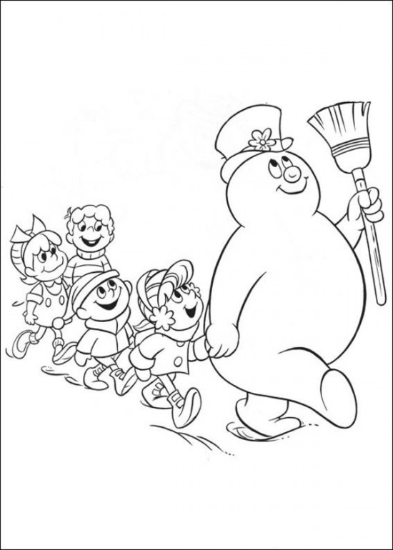 Printable Snowman Coloring Pages Coloring Coloring Pages