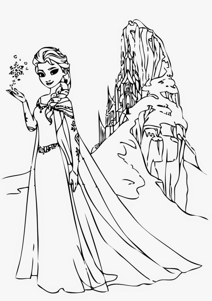 Free printable elsa coloring pages for kids best for Elsa frozen coloring pages