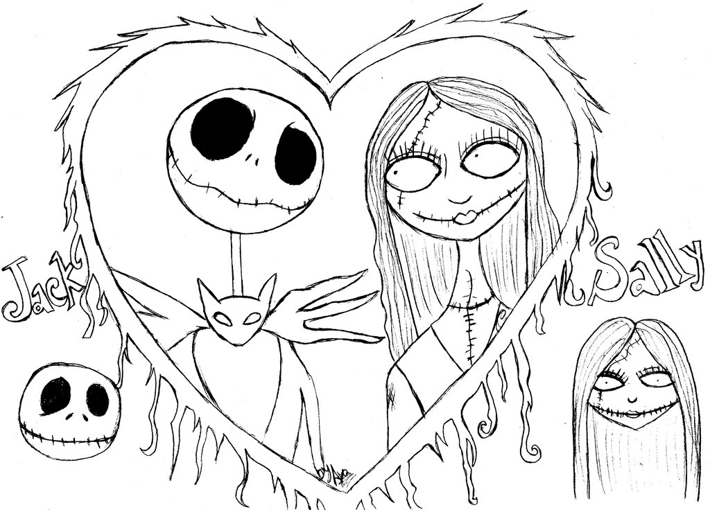 nightmare before christmas coloring images - Nightmare Before Christmas Coloring Pages