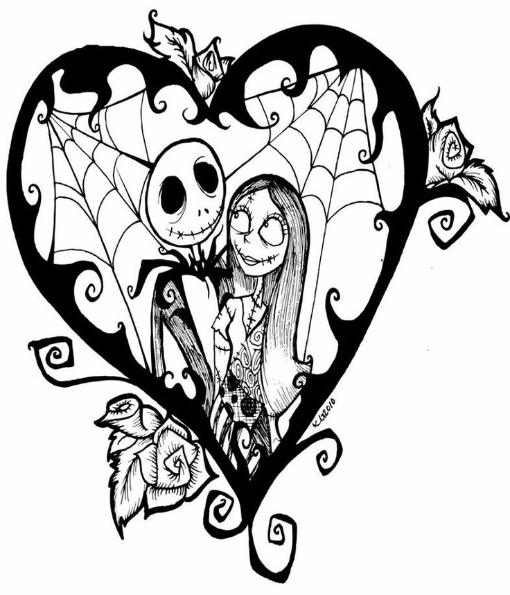 Nightmare Before Christmas Coloring love