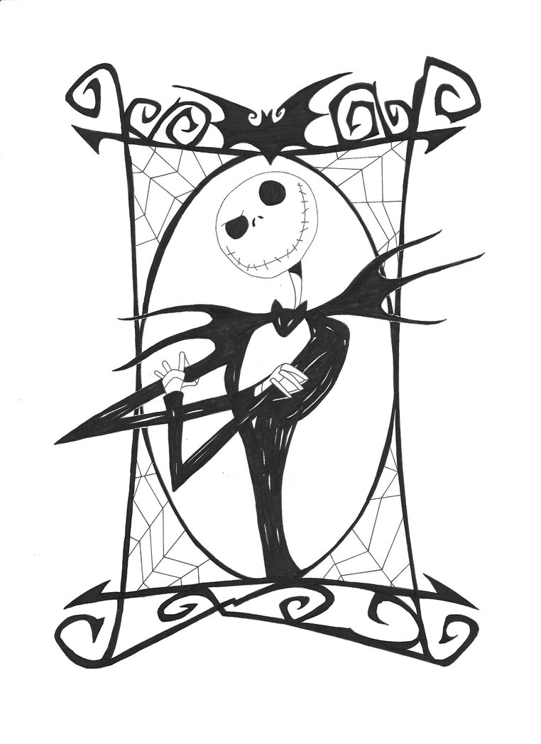Nightmare Before Christmas Coloring Pages Free Printable Nightmare Before Christmas Coloring Pages  Best