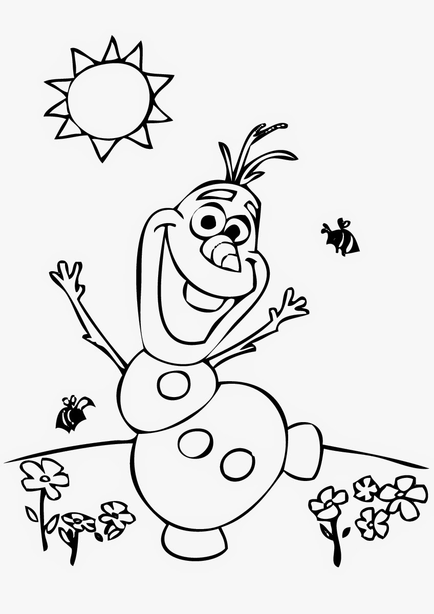 Olaf coloring pages only coloring pages - Olaf Coloring Page Images