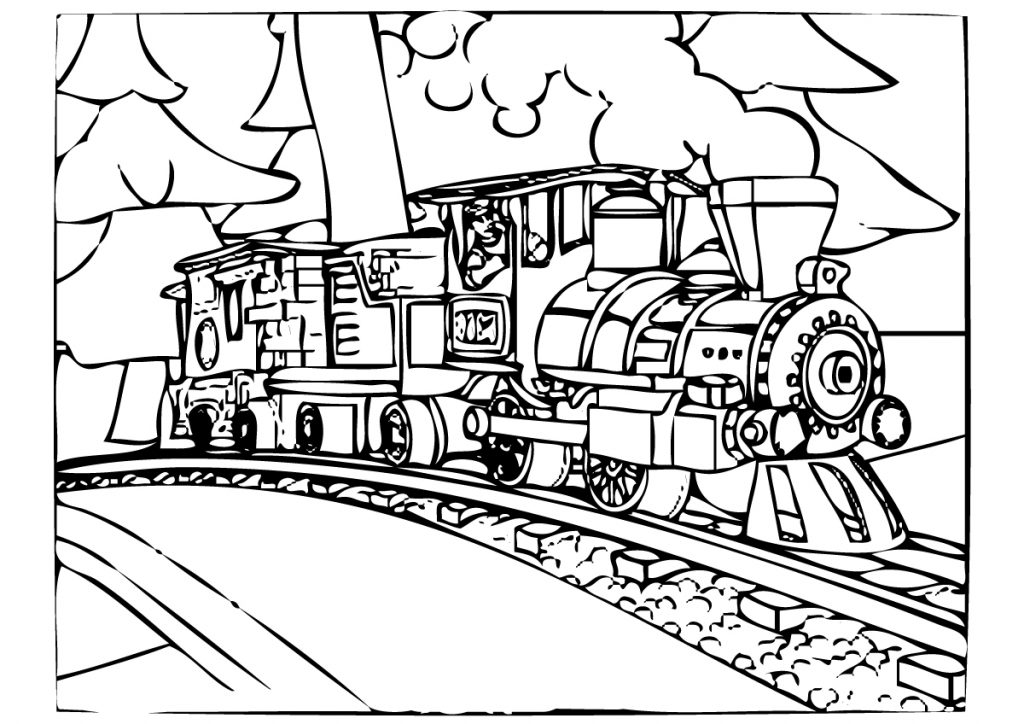 train ticket coloring pages - photo#2