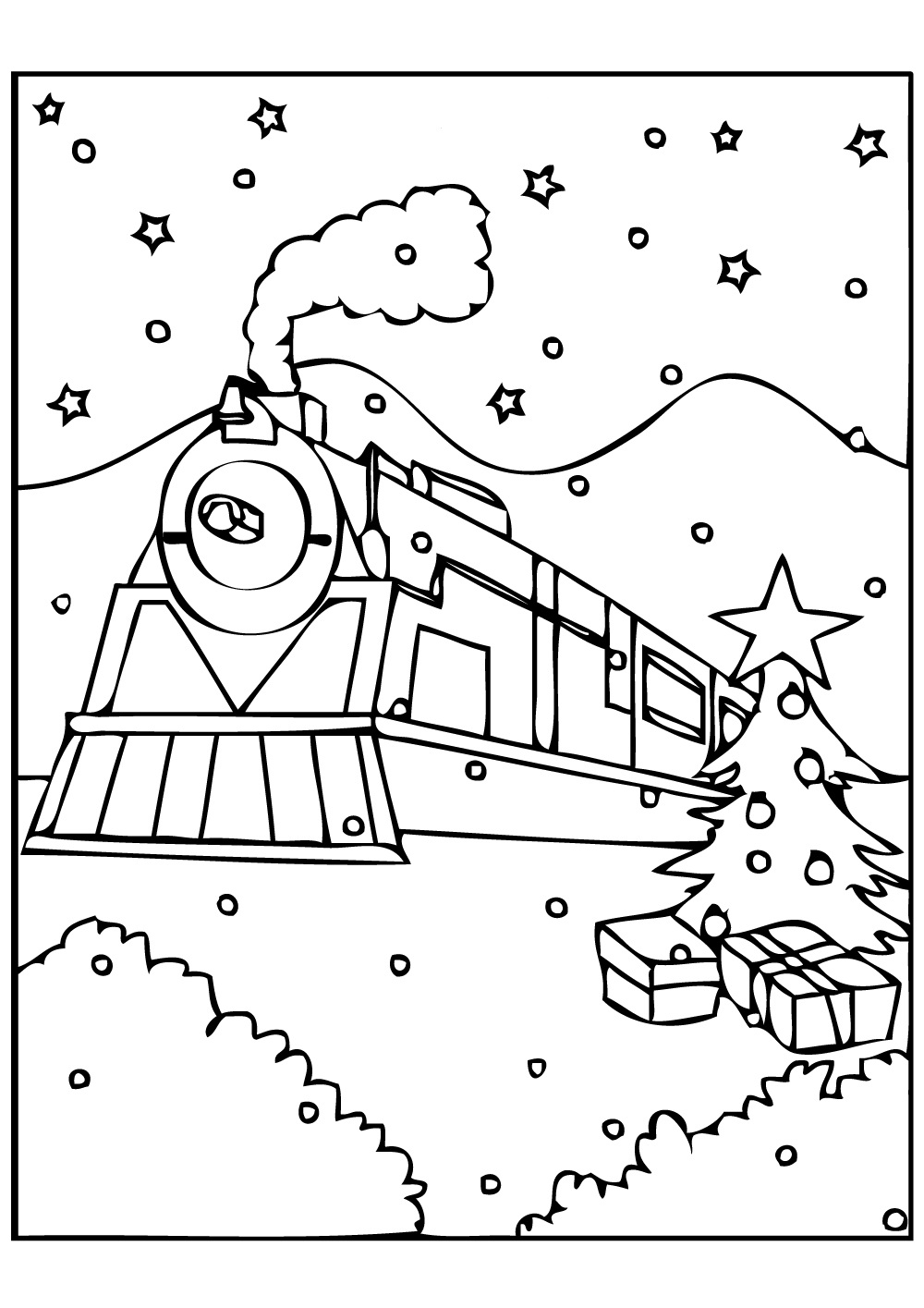 polar express train coloring pages - photo#4
