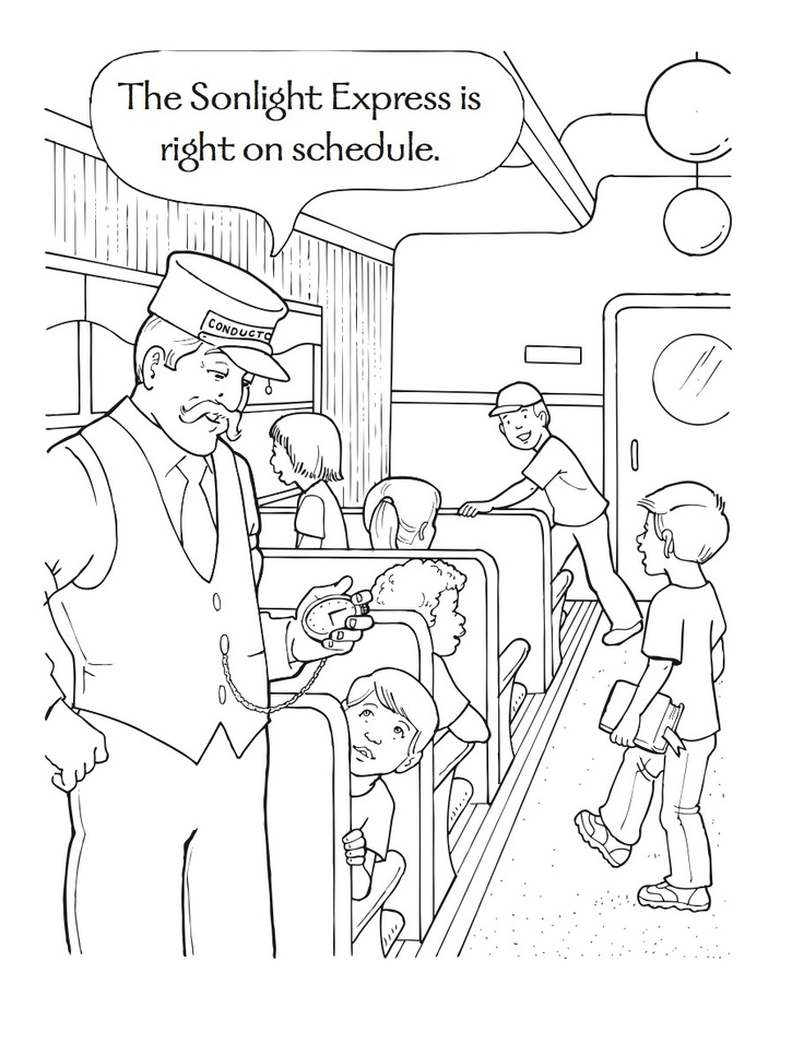 polar express coloring sheets