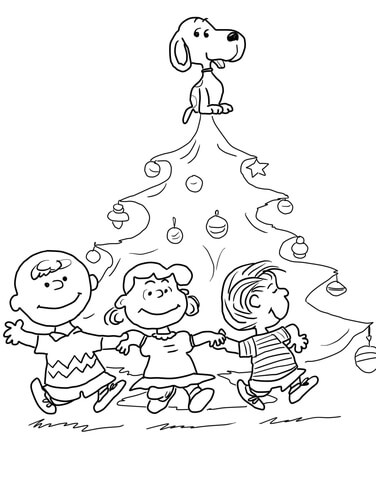 Print Charlie Brown Christmas Coloring Page