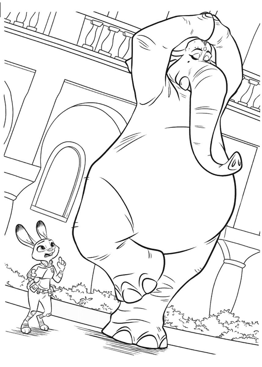 Coloring pages zootropolis