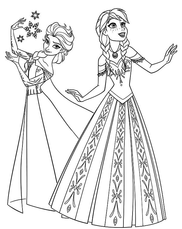 auna frozen coloring pages - photo#30