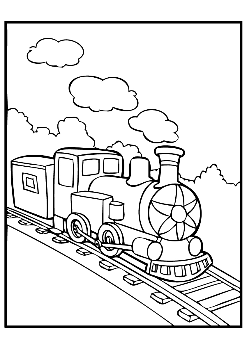 polar express train coloring pages - photo#6
