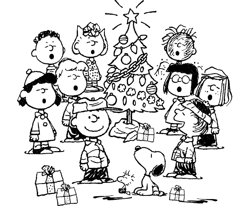 charlie brown christmas coloring pages - Free Printable Holiday Coloring Pages