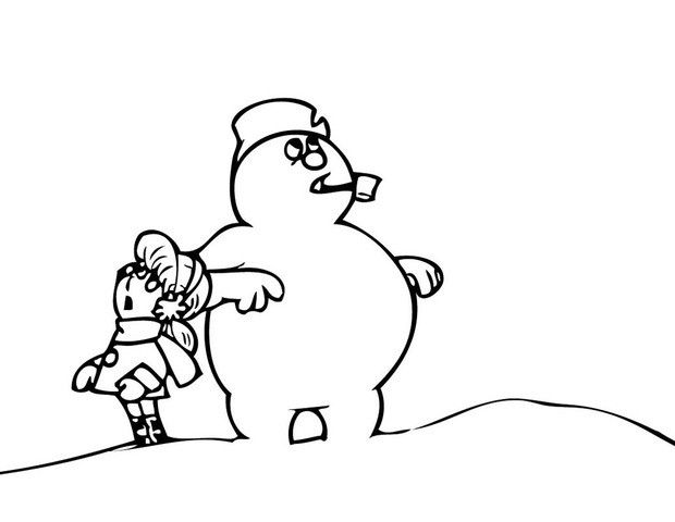 free printable Frosty the Snowman coloring pages