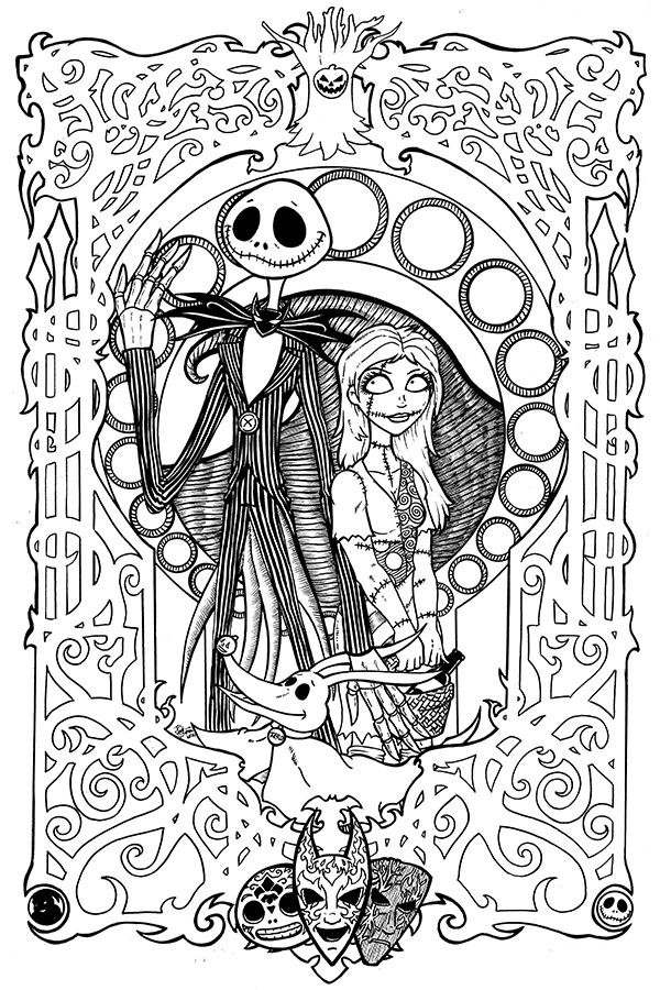 printable nightmare before christmas coloring sheets - Nightmare Before Christmas Coloring Pages