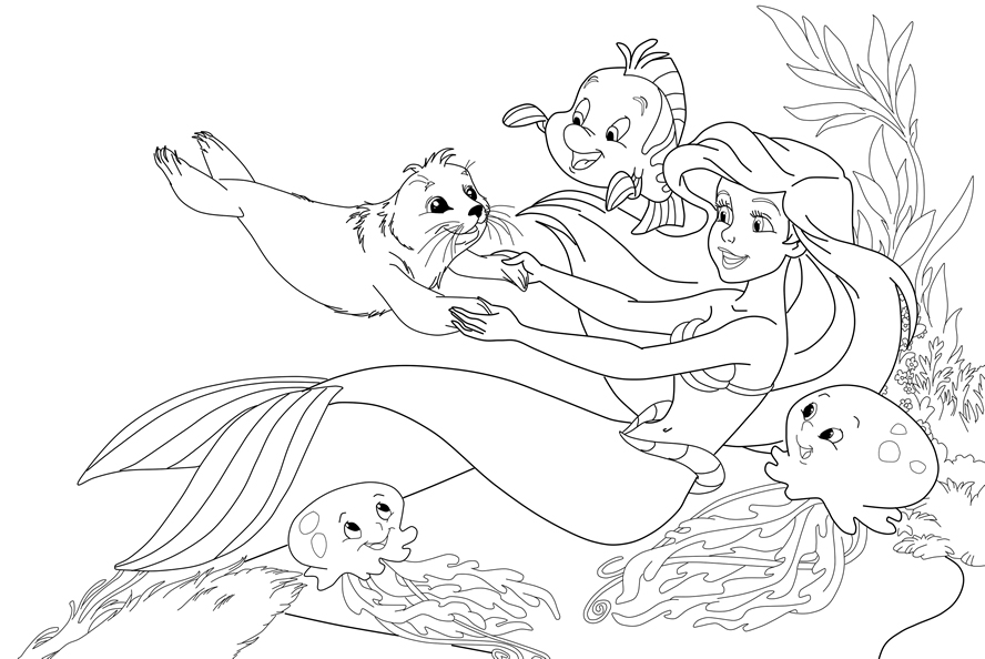 mermaid kids coloring pages - photo#41