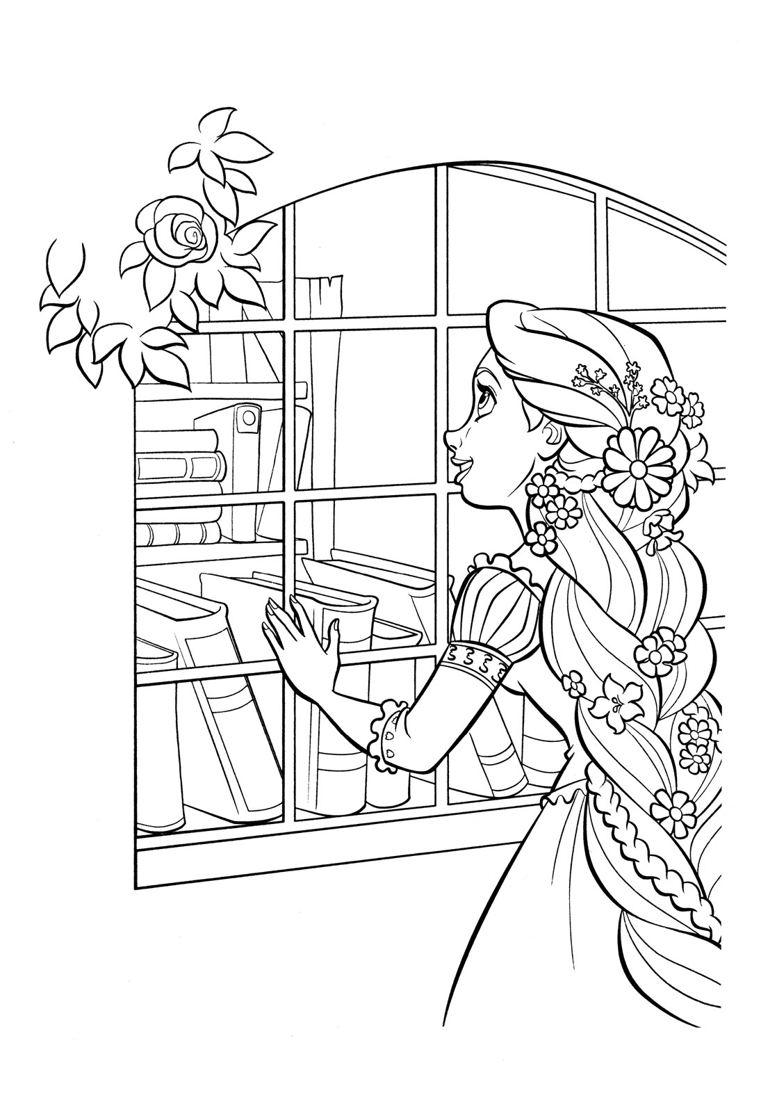 tangled coloring pages rapunzel coloring - photo #21