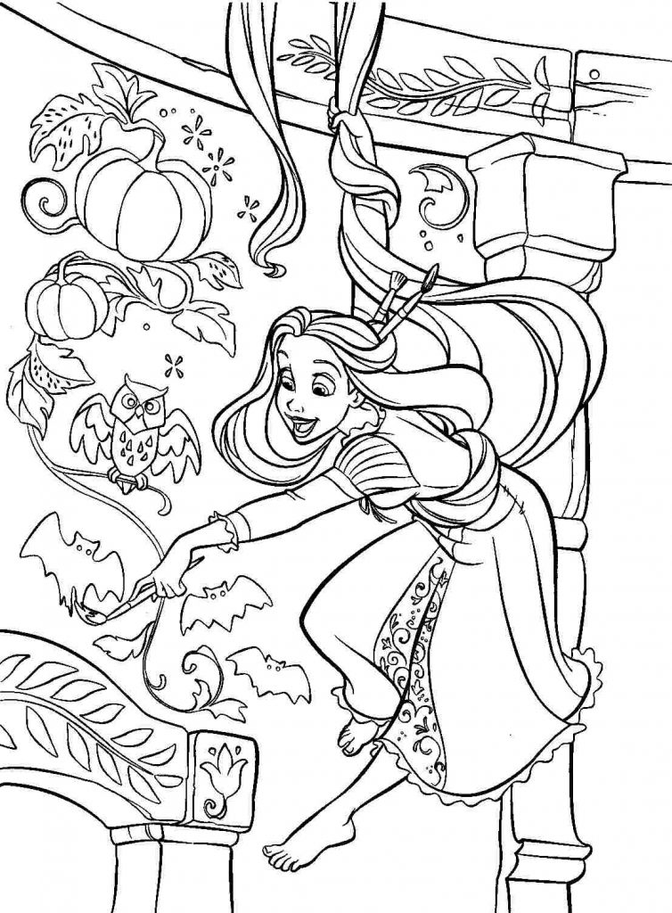 Coloring Pages To Print : Rapunzel coloring pages best for kids