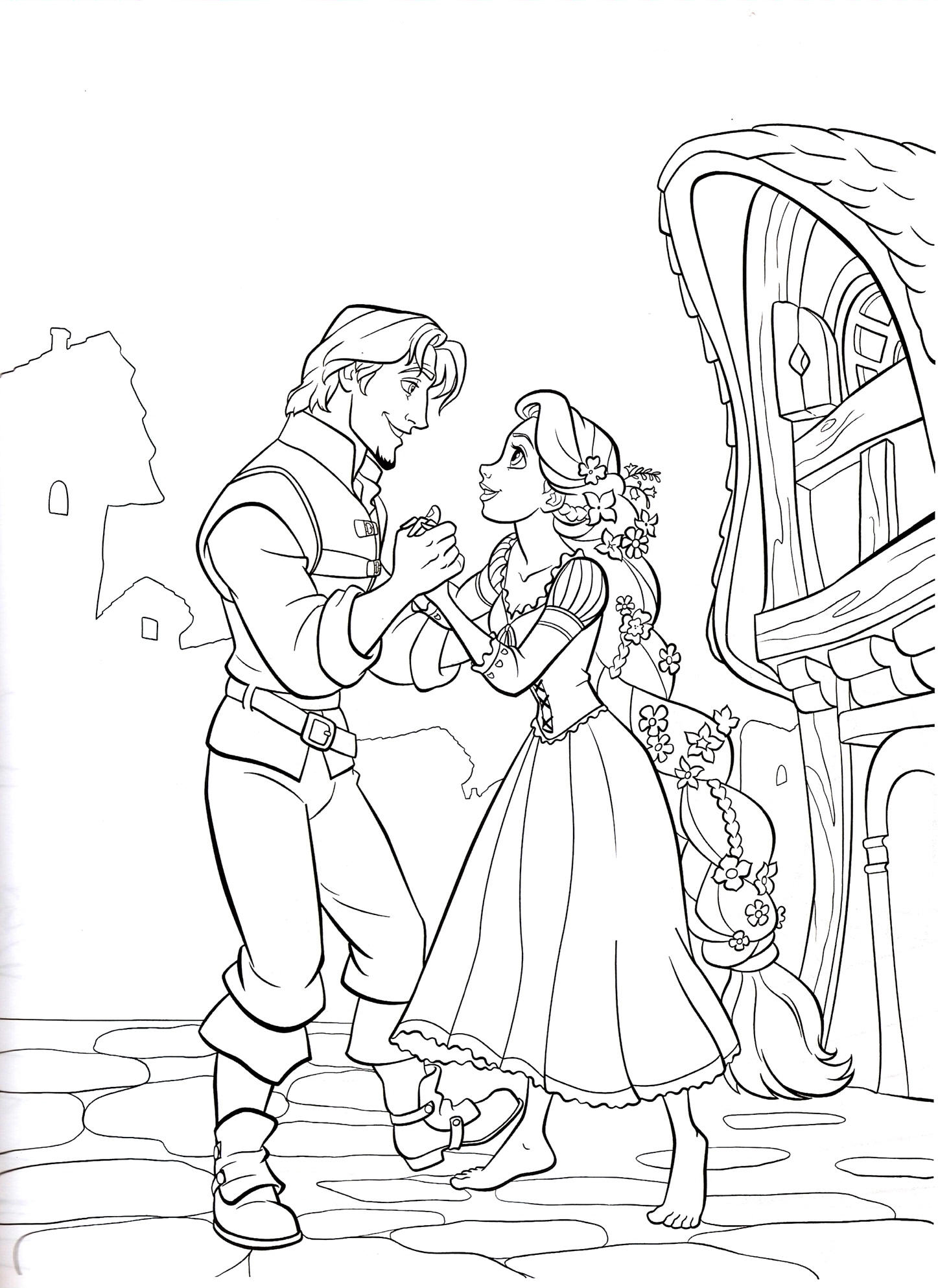 Rapunzel coloring pages best coloring pages for kids for Disney princess rapunzel coloring pages