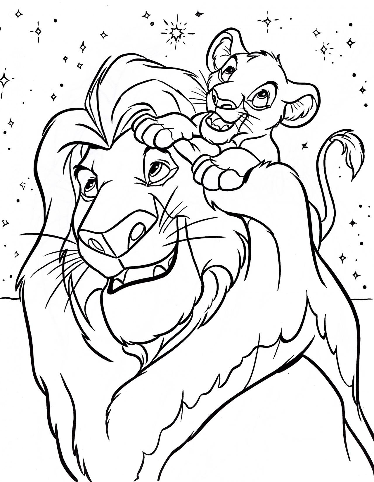 Free coloring pages lion king - Free Printable Lion King Coloring Pages