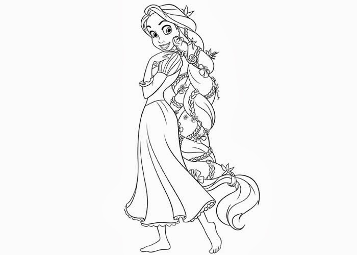 tangled coloring pages rapunzel coloring - photo #10