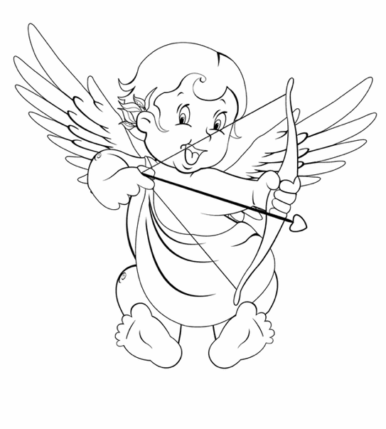 coloring pages cupid - photo#8