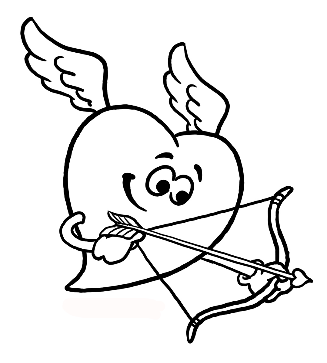 cupid coloring book pages - photo#14