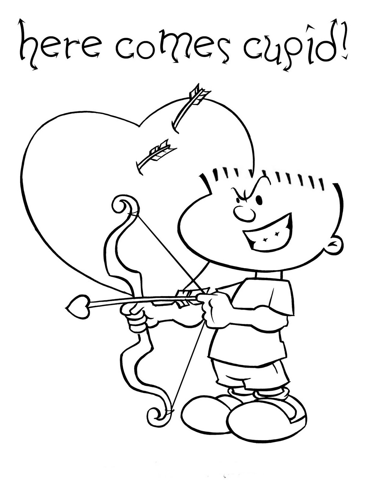 cupid coloring book pages - photo#27