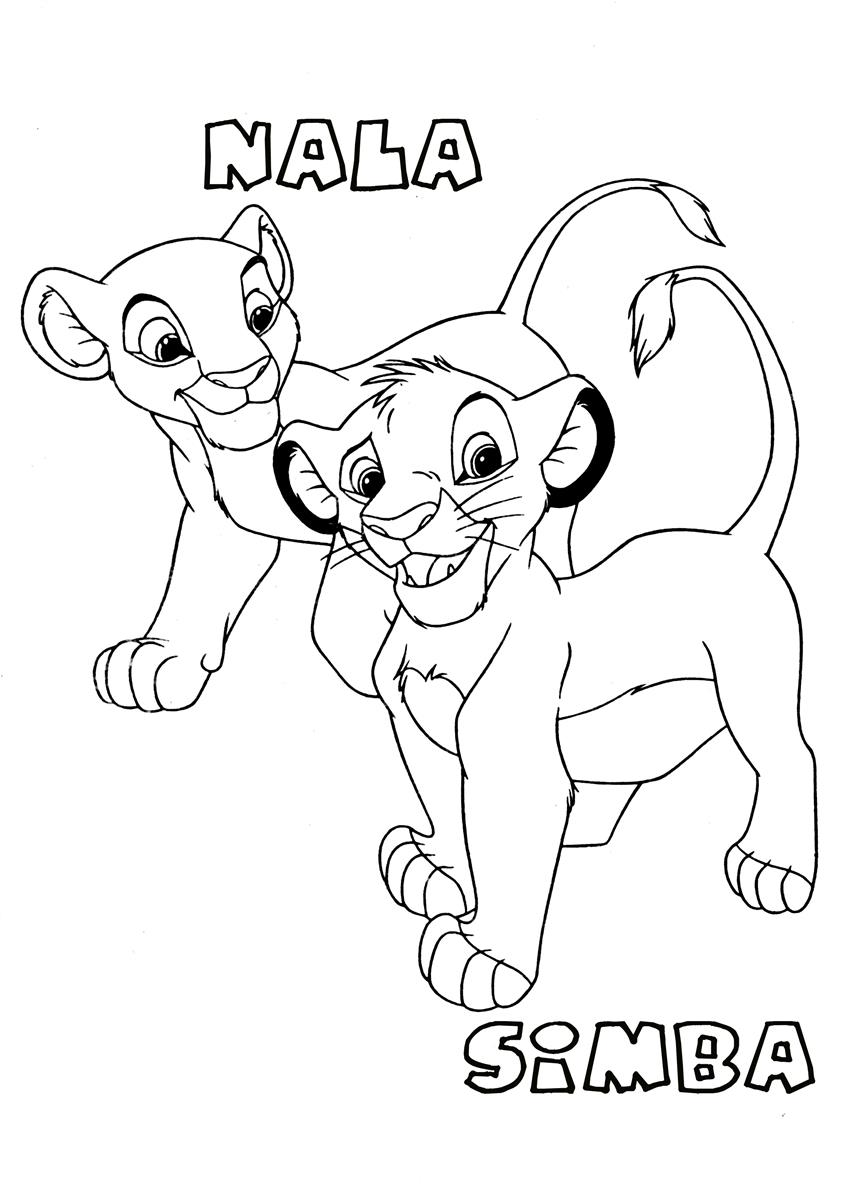 Free coloring pages lion king - Lion King Coloring Page