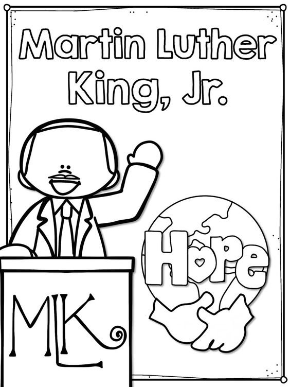 This is an image of Delicate Martin Luther King Coloring Sheets Printable