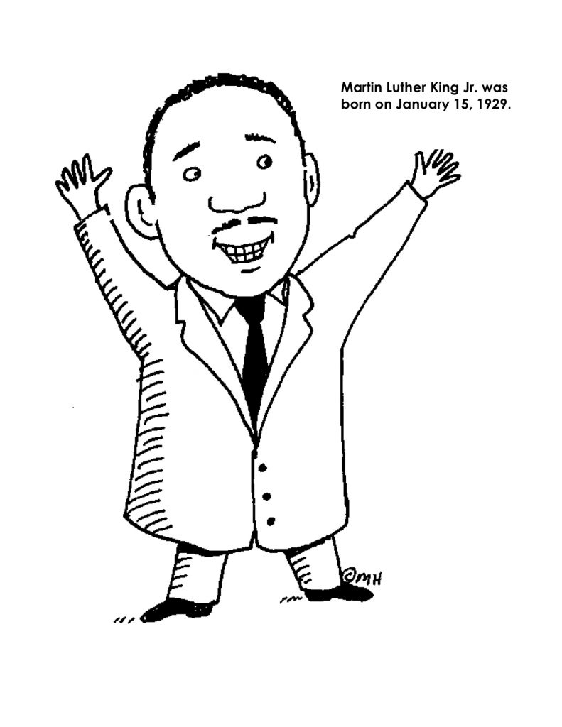 childrens coloring pages martin luther - photo#10