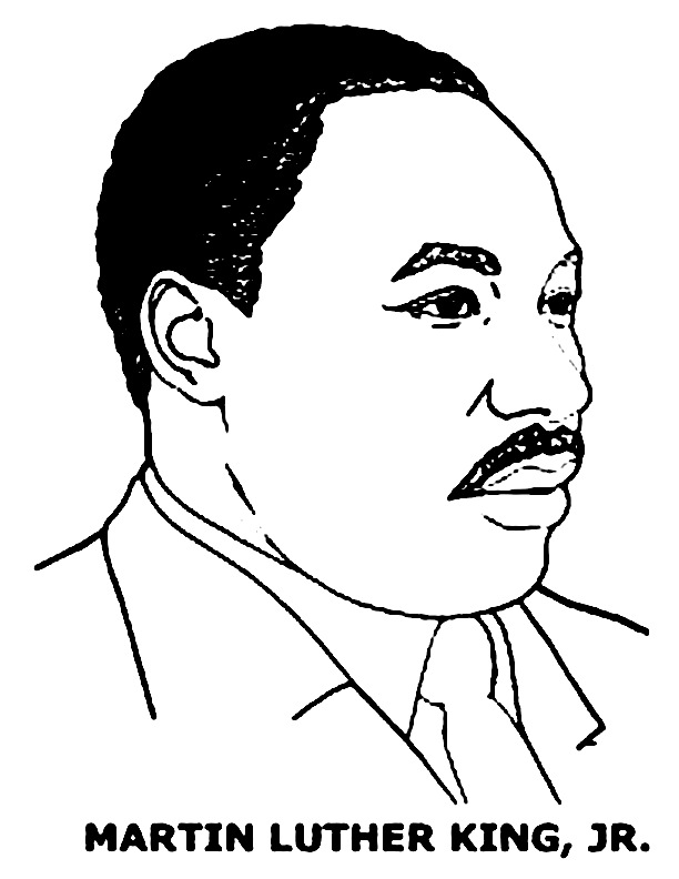 martin luther jr coloring pages - photo#4