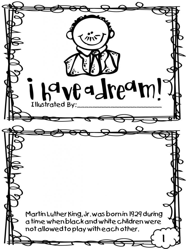 Martin Luther King Jr Dream Worksheet