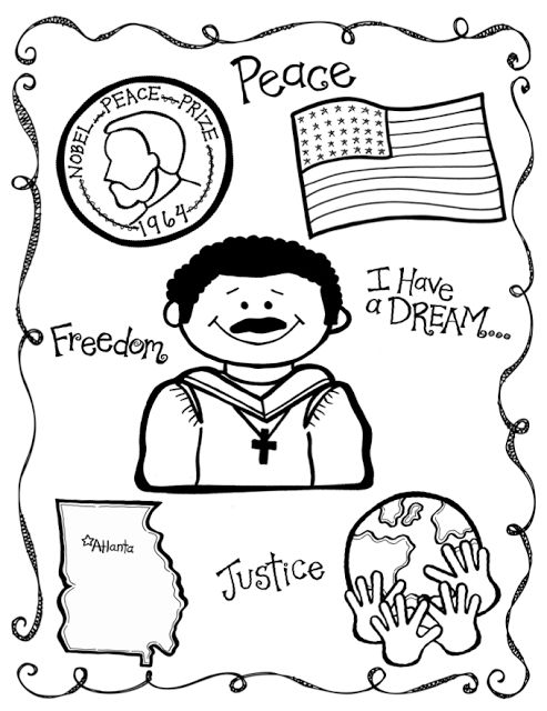 martin luther jr coloring pages - photo#14