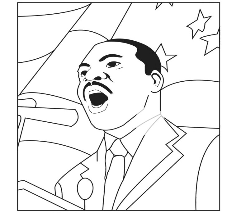 Martin luther king jr coloring pages and worksheets best for Martin luther coloring pages