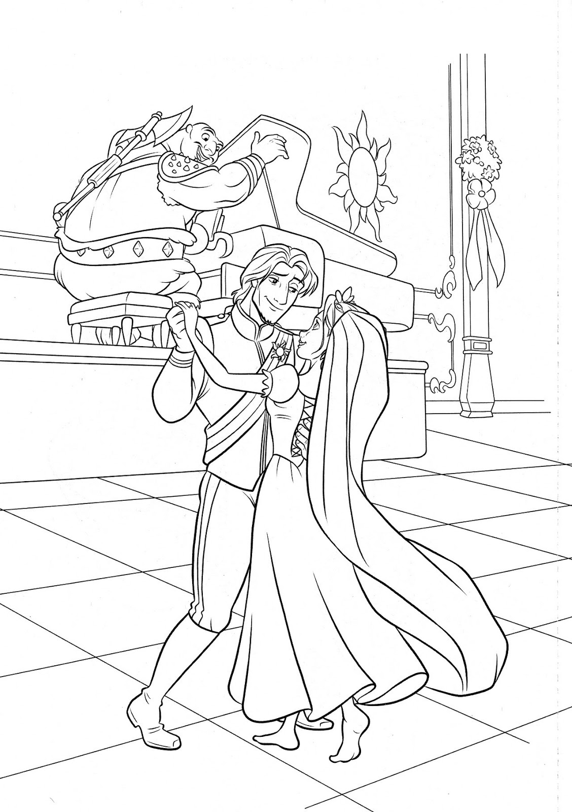 Free online rapunzel coloring pages - Picture Of Rapunzel To Color