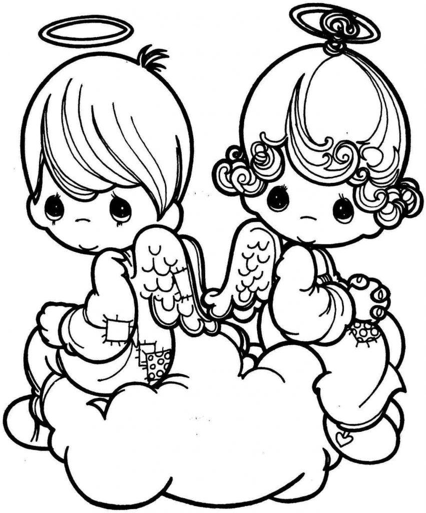 Precious Cupid Coloring Pages
