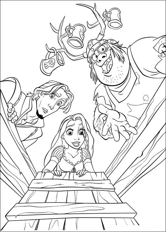 Coloring Page Rapunzel Tower