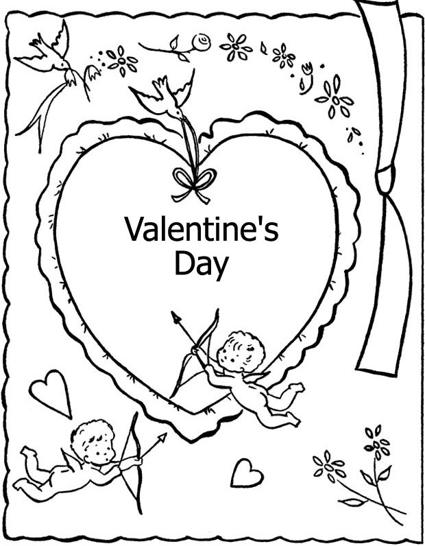 Valentine Coloring Pages - Cupids