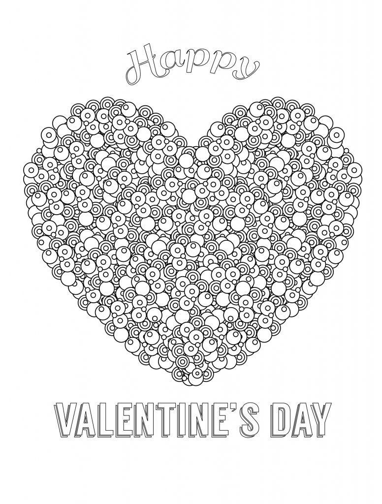 Valentine Coloring Pages - Heart Collage