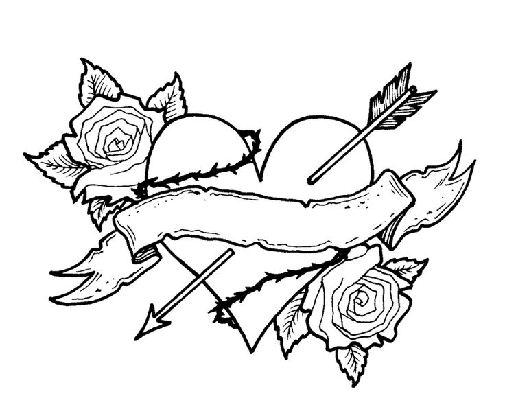 Valentine Coloring Pages - Heart Picture