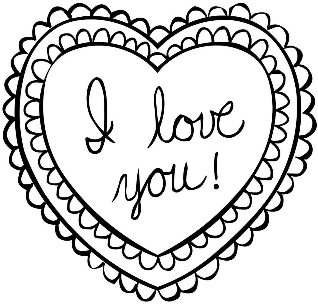 Valentine Coloring Pages - Heart Shaped