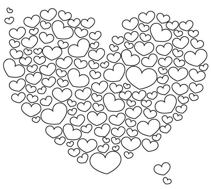 Valentine Coloring Pages - Heart of Hearts