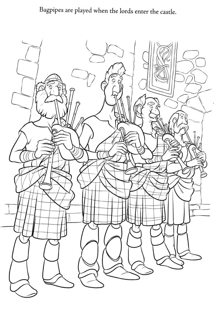 Brave Coloring Pages - Bagpipes