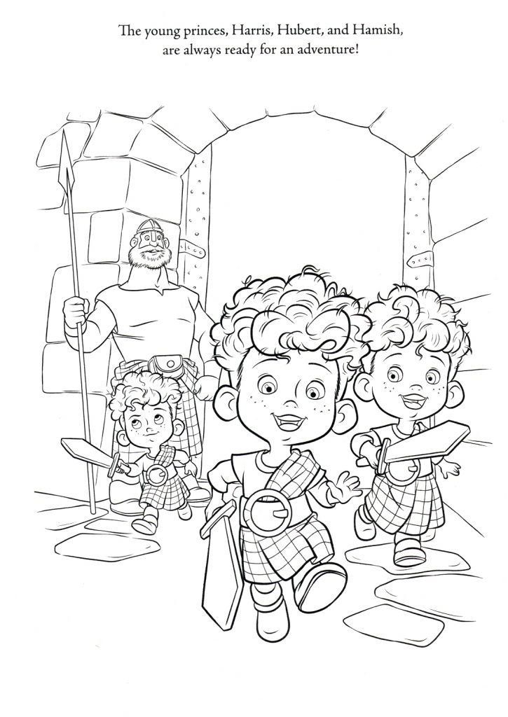 Brave Coloring Pages - Meridas brothers